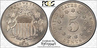Us 5 Cents Nickel Pcgs MS64 Beautiful Mint State!!!!