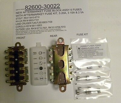 Toyota Corona RT43/52 & Other Six Fuse Block Aftermarket 82600-30022