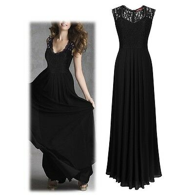 Womens Lace Cocktail Plus Big Size Maxi Dress Ladies Evening Party Long Dress AU