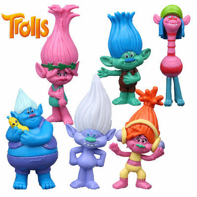 DreamWorks Movie Trolls Action Figures Toys Poppy Branch 6 Pcs / Set Kids Gifts