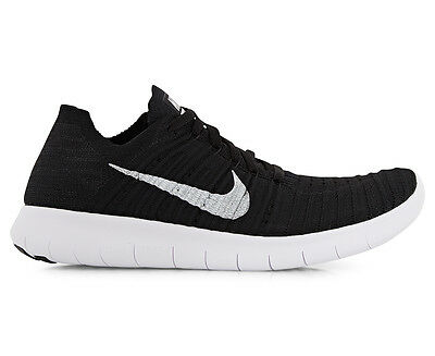 Nike Women's Free Run Flyknit Shoe - White/Black
