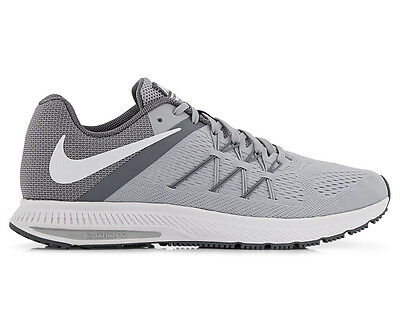 Nike Men's Zoom Winflo 3 Running Shoe - Wolf Grey/White-Cool Grey