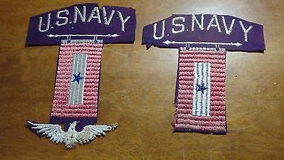 Vintage Ww1  United States Navy Patch Us Naval Patch Destroyer   Bx A #54