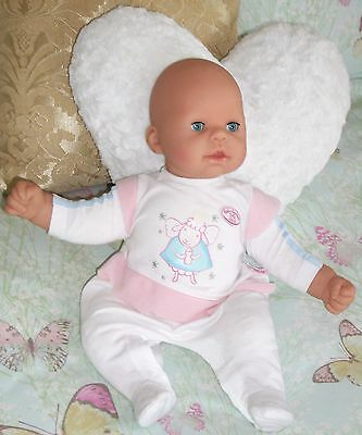 """Zapf Creations 2002 Baby Annabell Cooing/Talk 18"""" Baby Doll With Realistic Eyes"""