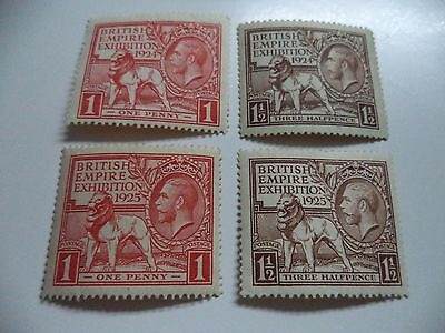 George V Stamps Sg 430/31 Y 432/33  Very Nice Mint++ Y +