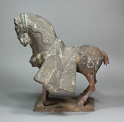Chinese pottery horse, in the Sui style