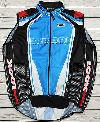 LOOK CARBON - vintage LIGHTWEIGHT WINDPROOF cycling VEST - size L