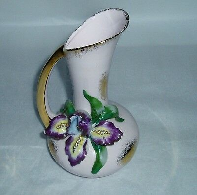 Vintage L'Amour China hand painted vase no. 7076 Orchid