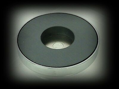 Strong Pot Magnet with Through Hole Mounting 80 x 12.7mm Ferrite Pull 45Kg 99LB