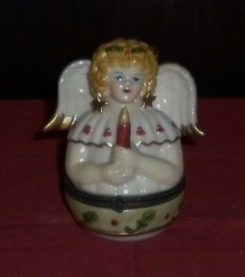 Villeroy And Boch Porcelain Christmas Angel Box  Excellent Condition