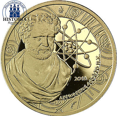 Griechenland 200 Euro Gold 2016 PP Goldmünze Demokritos