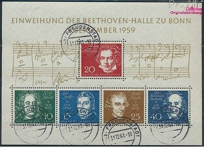 FR of Germany block2 used 1959 Beethoven (8609975