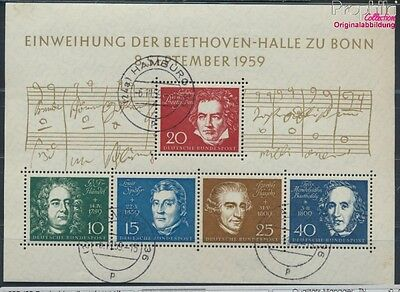 FR of Germany block2 used 1959 Beethoven (8609973