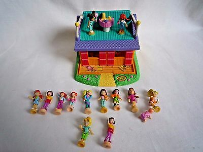 Vintage Polly Pocket House 1998 Bluebird With 14 Figures
