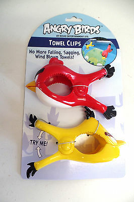 New ANGRY BIRDS  TOWEL CLIPS BEACH CHAIR POTATO CHIPS SO MANY USES