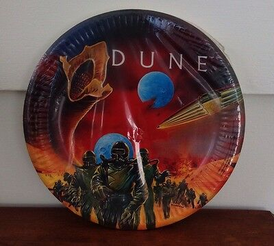Vintage DUNE 1984 Movie Large Paper Style Plates 8 Birthday Party Supplies NOS