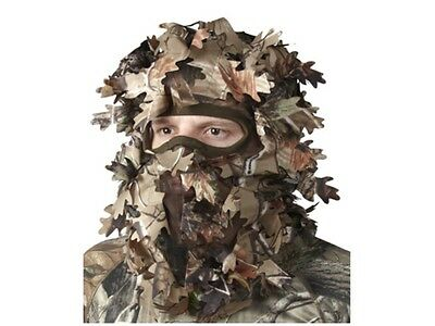 Woodland Camo 3D Camouflage Leaf Ghillie Suit Face Mask Paintball Hunting