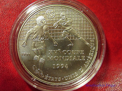 1991 Congo Large Silver 500 fr Soccer World Cup