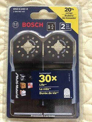 Bosch OSC114C-2 1-1/4'' Multi-Tool Carbide Tooth Plunge Cut Blade NEW
