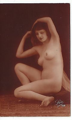 RP France Risque Nude Girl 1920s by Leo #108 Blank Back