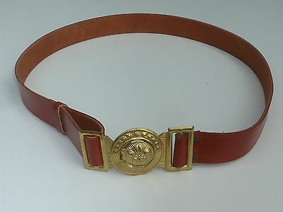"""Large Leather Thailand Boy Scouts Belt Up To 42"""" Waist"""