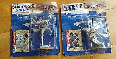 2 x Seattle Mariners Starting Lineup figures Alex Rodriquez 1997 baseball mlb
