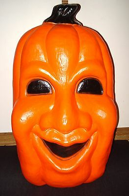 "25"" VTG HALLOWEEN Blow Mold Plastic JOL PUMPKIN HEAD LIGHT Yard Lawn Decoration"