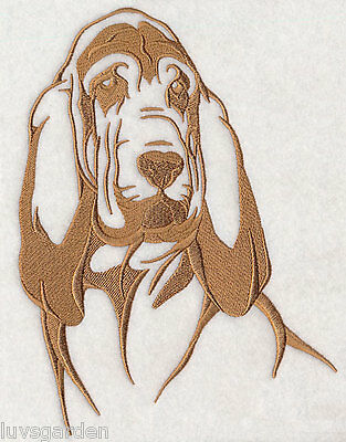 Bloodhound Silhouette Dog SET OF 2 HAND TOWELS EMBROIDERED Beautiful