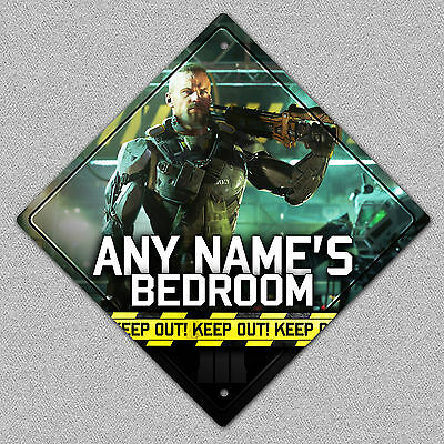 Personalised Call Of Duty Black Ops Metal Door/Bedroom Sign/Plaque ANY NAME