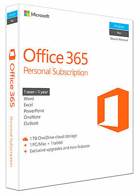 Microsoft Office 365 Personal, 1 anno, ESD (Italiano) (1x PC/MAC)