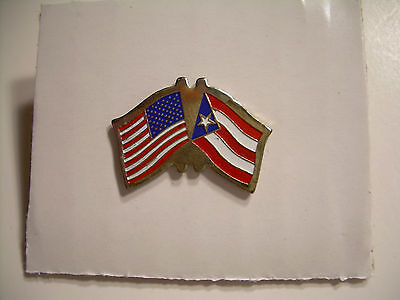 US Puerto Rico Flag Pin - Vintage from the 80's