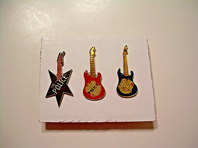 The Police Guitar Vintage Pins from the 80's