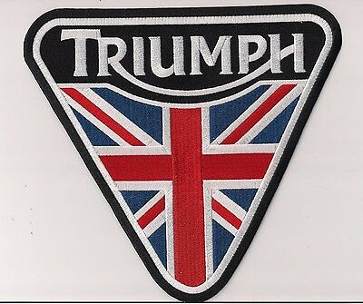 Triumph Motorcycles Triangular Extra Large Flag Patch