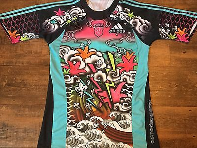 2009 2010 Stade Francais Rugby Union Shirt Adults Large Jersey Maillot