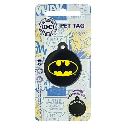 Licensed DC Comics Marvel Comic Hero Pet Dog/Cat ID Tags Various sizes & Designs
