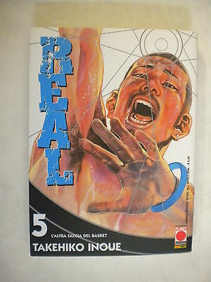 REAL 5 dI TAKEHIKO INOUE PRIMA EDIZIONE PLANET MANGA
