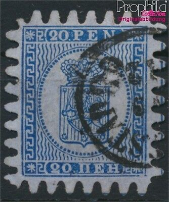 Finland 8C X, long tongues fine used / cancelled 1866 Crest (8883193