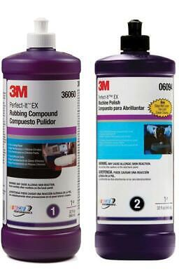 3M Perfect-It Rubbing & Machine Polishing Compound (32 oz) (3M-06085, 3M-06064)