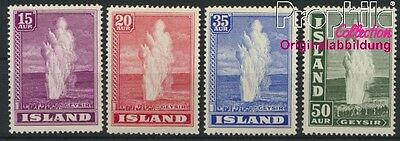 Iceland 193-196 unmounted mint / never hinged 1938 Geysir (8883133