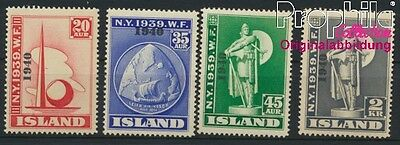 Iceland 218-221 unmounted mint / never hinged 1940 print edition (8883129