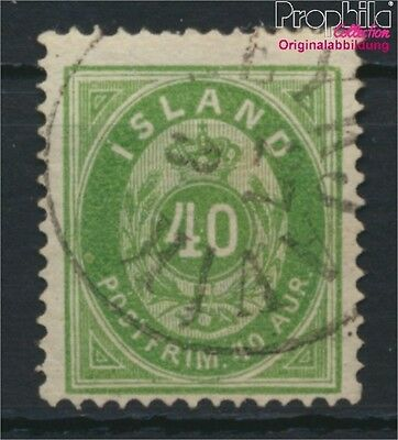 Iceland 11A fine used / cancelled 1876 Paragraph with Crown (8883111