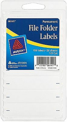 Avery Permanent File Folder Labels 2.75 x 0.625 Inches, White 156 ea
