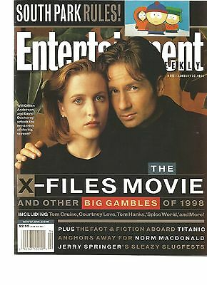 Entertainment Weekly X-Files David Duchovny & Gillian Anderson Scully & Mulder