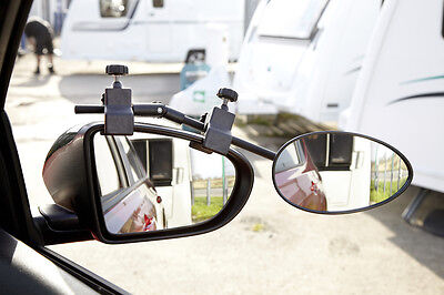 Ring Multi Fixing Convex Easy Fit Adjustable Caravan Towing Mirror RCT1440