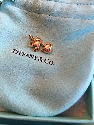 new Tiffany Co 18k yellow gold diamond fish charm for necklace pendant genuine