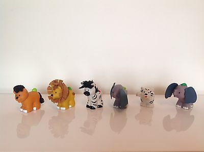 +++ Fisher Price / Little People Lot 6 Animaux Vintage +++