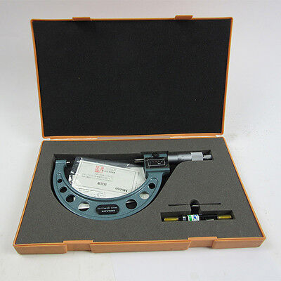 New 2014 SHAHE100-125mm 0.01mm Outside Micrometer Micrometro Yellow Face Gauge