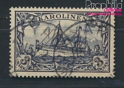 Carolines German Colony 18 proofed used 1901 Yacht Hohenzollern (8983931