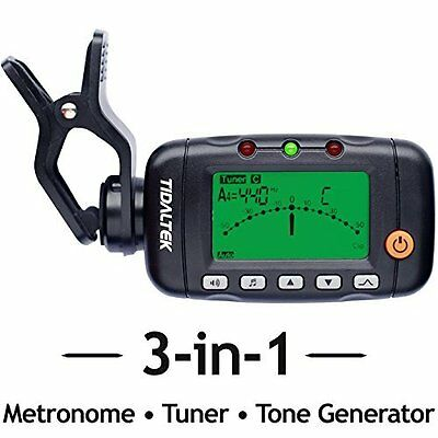 Metronome Tone Generator & Professional Clip-On Tuner for Guitar Bass & Violin
