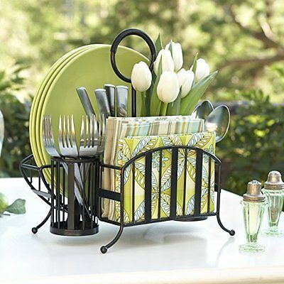 Delaware Collection Picnic Caddy - Stylish Tabletop Decor Perfect for Kitchen